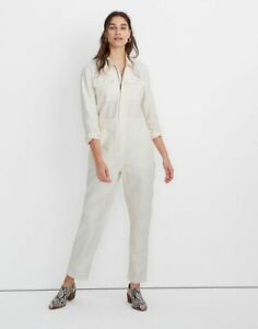 BNWT NEW Madewell shop Garment-Dyed Zip Front Coverall Jumpsuit top Sz SMALL!