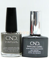 CND SHELLAC Gel Color Matching Polish 296Luxe & Vinylux- Silhouette