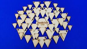 Wooden Bunting Triangles - Laser Cut MDF Blank Embellishments / Craft Shapes