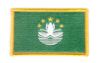 MACAU MACANESE FLAG PATCHES COUNTRY PATCH BADGE IRON ON NEW EMBROIDERED