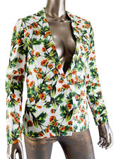 NWT Joie Porcelain Mare Floral Printed Silk Jacket Blazer S Spring