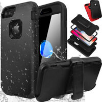 Shockproof Hard Case Stand Cover F Apple iPhone X 6 6S 7 / 8 / Plus w/ Belt Clip