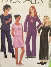 McCalls Sewing Pattern 3891 Girls Childs Top Pants Skirts Size 7-12 Uncut
