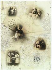 Printed Translucent / Vellum Scrapbook  Paper A/4 Postcard