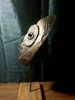 Mask African Carved Wood Tribal Wall Hand Vintage Art Wooden BIG mask 1232