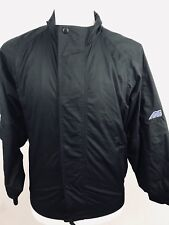 z Activewear Clothing, Shoes & Accessories Mizuno Mens Jacket Size Small Full Zip Snap Button Zip Away Sleeves Black