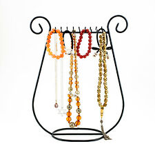 New Black Metal Jewelry Harp Necklace Rack Holder Fashion Chain Stand