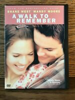 A Walk to Remember (DVD, 2002) Mandy Moore Snap Case Disc Nm