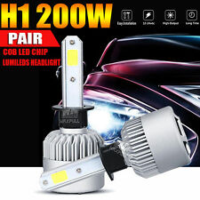 2x H1 200W 20000LM  LED Headlight Kit 6500K White Car Bulbs Lamps Light