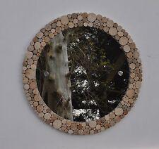 "Driftwood Round Wall Mirror 20""/50cm Large Hallway Shabby Chic Beach Decor"