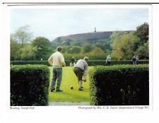 Postcard: Bowling, Nuttall Park, Bury, Lancashire - Greenmount Village W I
