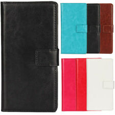 For Sony/HTC -Phone PU Leather Flip Case Book Style Wallet Protective Skin Cover