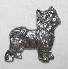 Chinese Crested Powder Puff Dog Fine Pewter Pin Jewelry Art Usa Made