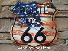 ROUTE 66 US ROAD HIGHWAY SHIELD TIN METAL SIGN BAR WALL U.S.A. GARAGE MAN CAVE