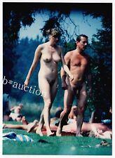Nudism NUDE COUPLE OUTDOOR / NACKTES PAAR NUDSTEN CAMP FKK * 70s Amateur Photo