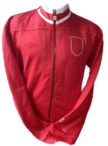 Retro Umbro England 1966 Ramsey Style Red Tracksuit Anthem Jacket Sized Large