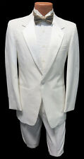 40R Mens White Notch Tuxedo Dinner Jacket & Pants Package Mason Cruise Theater