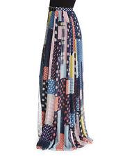 Diane von Furstenberg Bethune Patched Dots Silk Maxi Skirt size 2 MSP $698