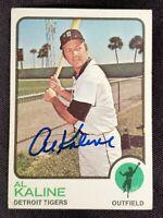 1973 Topps AL KALINE #280 Signed Card Detroit Tigers Team auto vtg HOF 70s