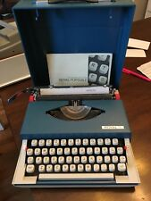 Blue Royal Sprite Portable Typewriter w/ Case Looks Great Has some Ribbon left