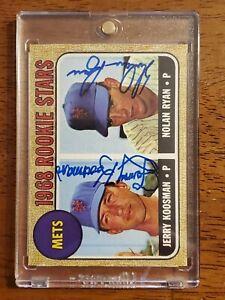 1968 Topps Mets Rookie Stars #177 NOLAN RYAN / JERRY KOOSMAN - N. Ryan Hologram