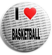 """I Love Basketball Pin Badge 3"""" 75mm  - Gift - Birthday - Stocking Filler"""