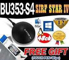 Globalsat bu353-s4 bu-353-s4 SiRF Star IV Receptor Gps Usb 48 Chs mac/win8/linux