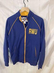 Roger Williams University RWU Hawks Champion Zip Up Jacket Sweatshirt Sz Small