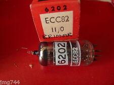 ECC82 12AU7 BRIMAR PRINTED 6202 17mm LAD PLATE NEW OLD STOCK VALVE TUBE 1PC F15