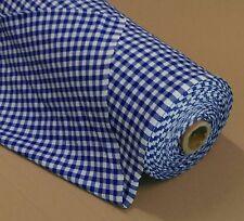Züchen Karo Stoff Baumwolle blau-weiß 160 cm breit Meterware