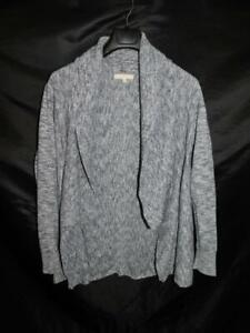 Banana Republic XL Blue Gray Cardigan Sweater Open Drape Front Long Sleeve XL