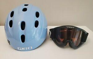 New GIRO  540 Ski/Snowboard Helmet M Light Blue Swirls with Scott  Goggles