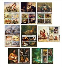 2011 EUGENE DELACROIX PAINTINGS ART 8 SOUVENIR SHEETS MNH UNPERFORATED