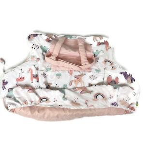 Go By Goldbug Shopping Cart And High Chair Cover Unicorn Llama Pink
