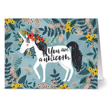 24 Note Cards - You Are a Unicorn - Kraft Envs