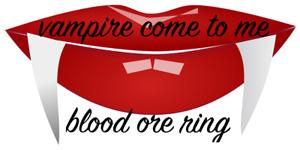 Vampire Come To Me Transformation Blood Ore Ring Dracula Lestat Ritual Totem
