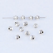 50pcs Tibetan Silver UFO Charm Loose Spacer Beads Jewelry Findings 5X4.5mm XZ44
