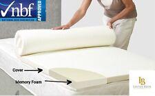 "Orthopadeic Memory Foam Mattress Topper 1"" 2"" 3"" 4"" ,3ft 4ft,4ft6,5ft + Free P&P"
