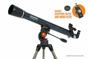 Celestron AstroMaster 70 AZ Telescope + Smartphone Adapter & Moon Filter  #22064