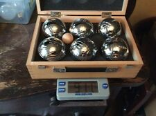 6 OBUT Pétanque  Balls With Hard Case , Made In France,