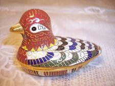 Vintage Chinese Cloisonne Bird Duck Trinket Box