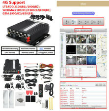 4CH Car DVR AHD 4G Wireless GPS Realtime Video Recorder IR Remote+4 HD Cameras
