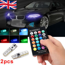 2 LED T10 Remote Control W5W 501 RGB Color Changing Car Wedge Side Light Bulbs P