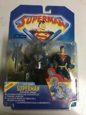 Superman Animated City Camo Superman Figure with Flightpack & Launcher NIB 1998