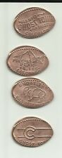 4 copper elongated pennies (cents) Wild West Ghost Town Museum Colorado Sprgs Co