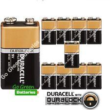 10 x Duracell 9V Alkaline Batteries Plus Duralock CopperTop PP3 LR22 BLOC MN1604