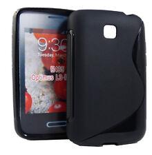 Rubber Case Wave für LG E430 Optimus L3 II in schwarz TPU Handytasche Hülle