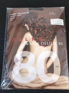 FALKE Warm Deluxe 80 Den Thermo Opaque /Matt Tight Sortiment/black Colour M/L