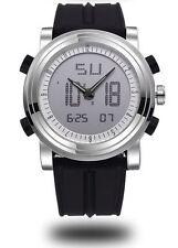 Fashion Analog-Digital Sport LED Date Rubber Quartz Waterproof Men's Wrist Watch