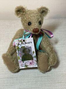 "KM Bears Marmalade mohair / alpaca OOAK teddy bear made in England 9"" w/ tag"